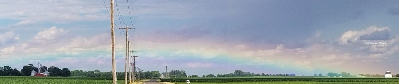 Saw this low rainbow...didn't find the pot of gold!