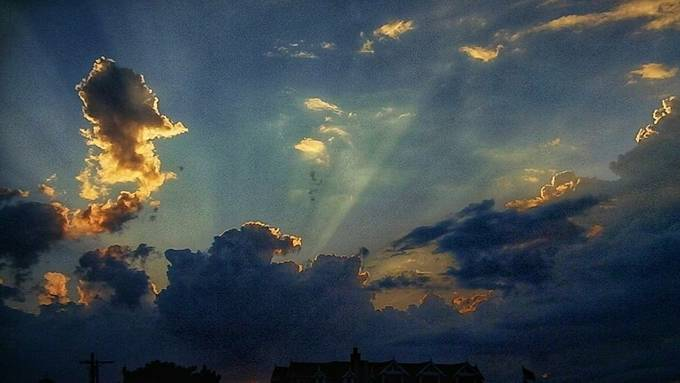 rays of sunshine and hope for a brighter tomorrow