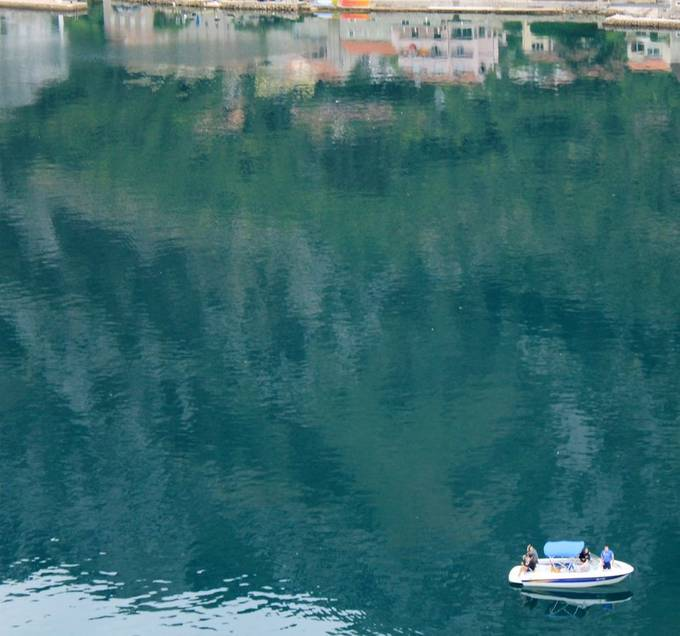 Taken from a ship anchored off the coast of Kotor, Montenegro
