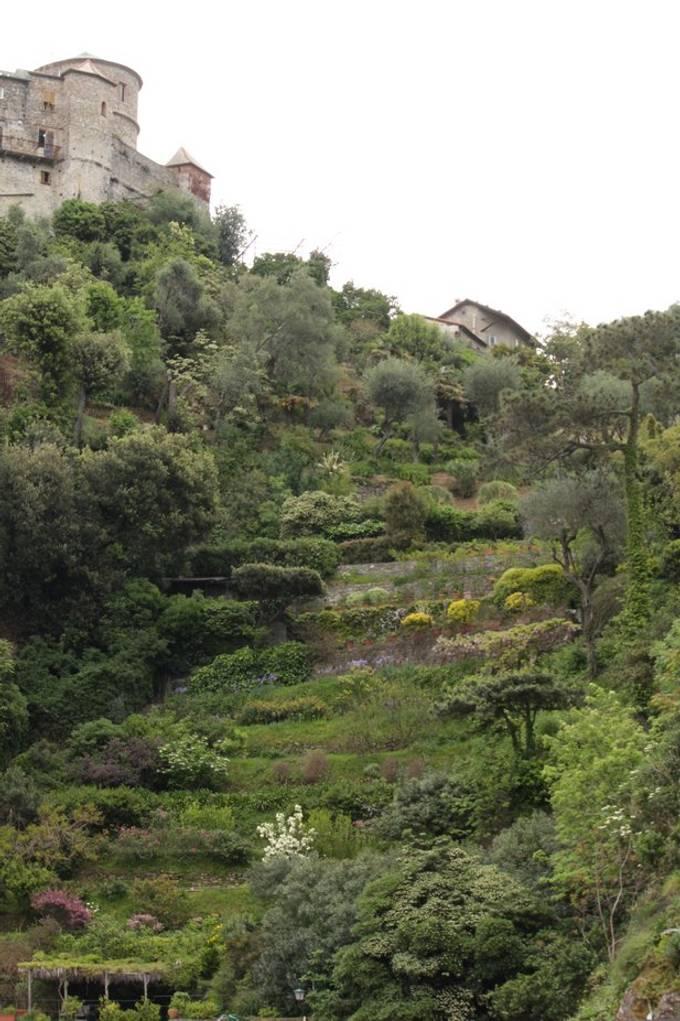 Path to castle in Portofino, Italy