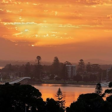 Sunset Over Forster and Tuncurry
