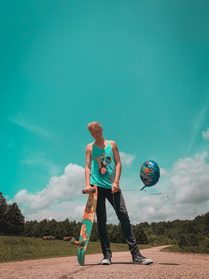 A Skaters Teal Summer by austinbowdenphotography - The Colors Of Summer Photo Contest