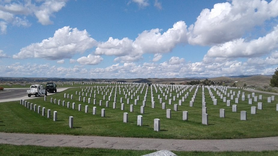 Scattering my brother's ashes veterans cemetery Boise Idaho.