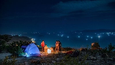 Camping with my friends