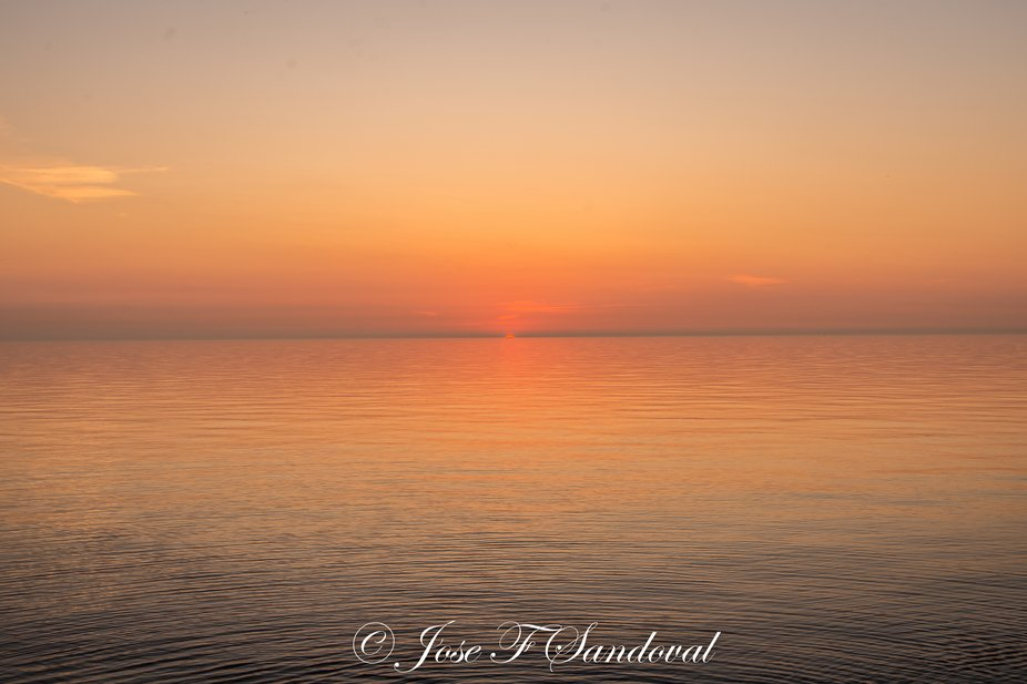 This is a July sunset.  It was so tranquil and the colors...  It was a great experience.