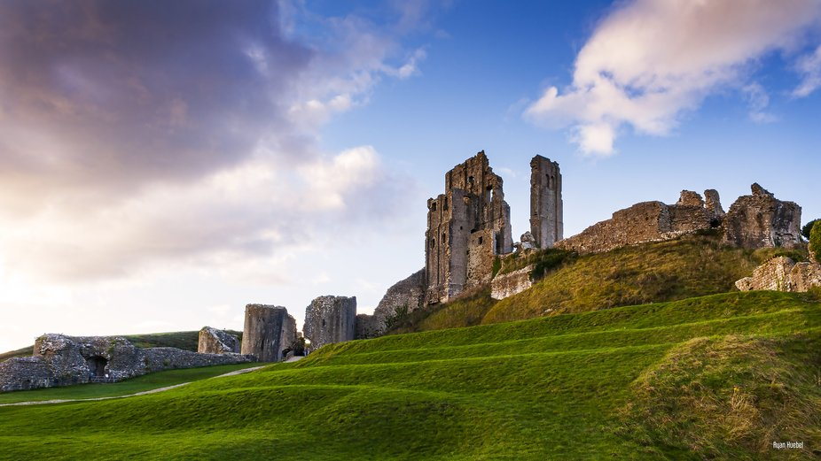 One of the coolest caste ruins I have ever seen. In Corfe, England. You can see how massive the a...