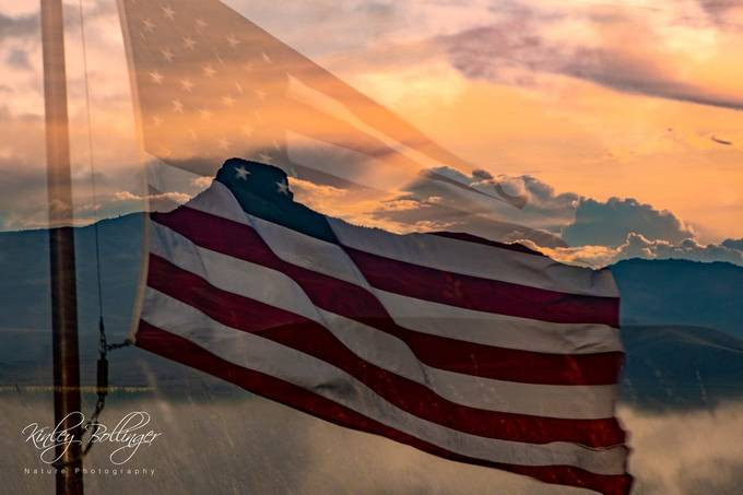 This photo is an in camera double exposure meant to signify freedom and the beauty of the United States of America.