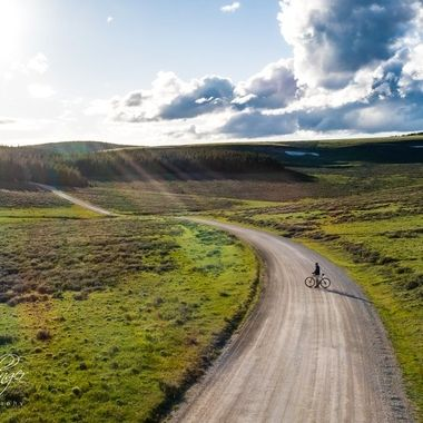 This spot in the Bighorn Mountains in Wyoming is one of my favorite places to ride bikes.  The evening light makes it even more special.
