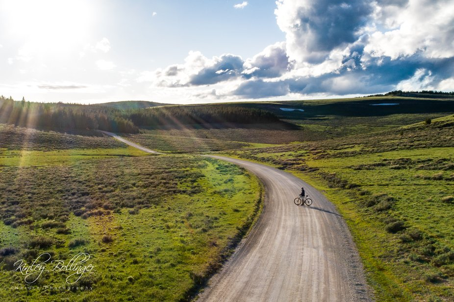 This spot in the Bighorn Mountains in Wyoming is one of my favorite places to ride bikes.  The ev...