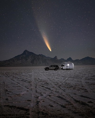 A few mornings ago I decided to drive out to these salt flats in hope for clear skies and to capture Neowise setting in the sky. Hope you enjoy this photo in such an everchanging and wild world. We are so miniscule when it comes to the galaxy above.