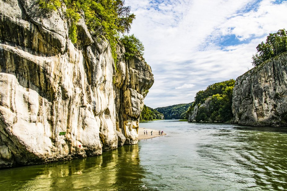 Trip along the Danube to Weltenberg Abbey through the Danube Gorge in Germany. There is situated ...