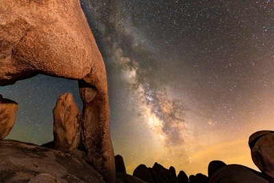 Arch Rock night sky