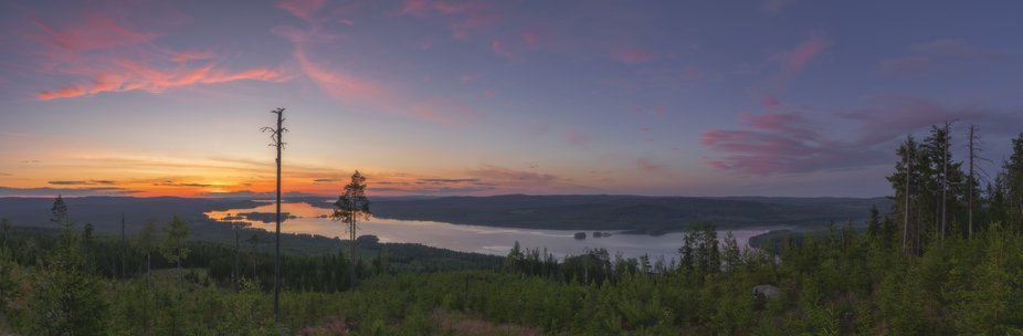 A pano of 8 vertical frames shot from Mountain Grejsan after sunset. You can reach this viewpoint...