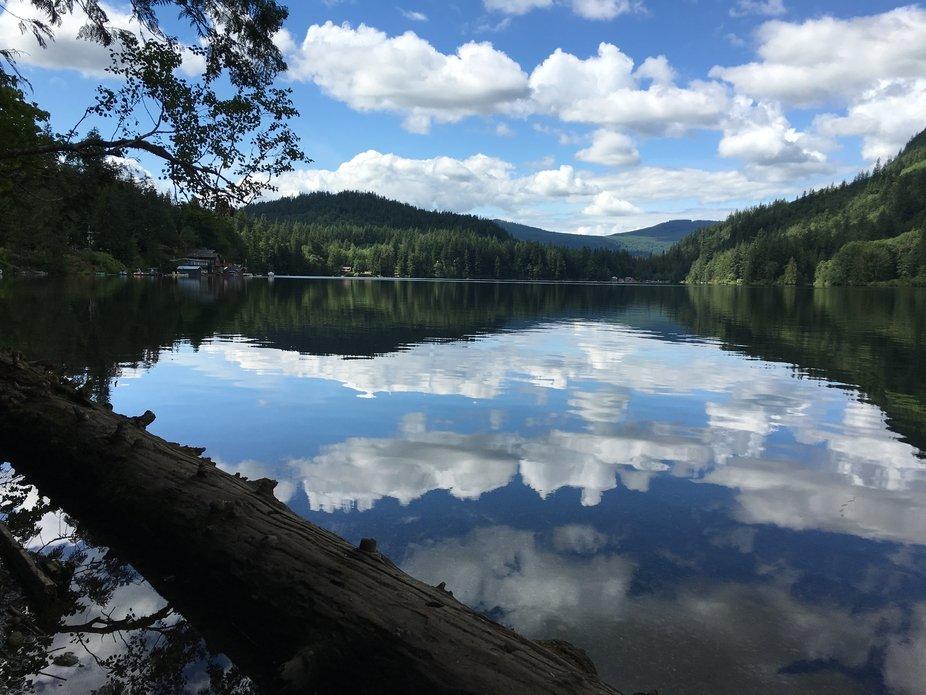 While fishing on Silver Lake