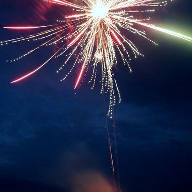 Firework star burst.