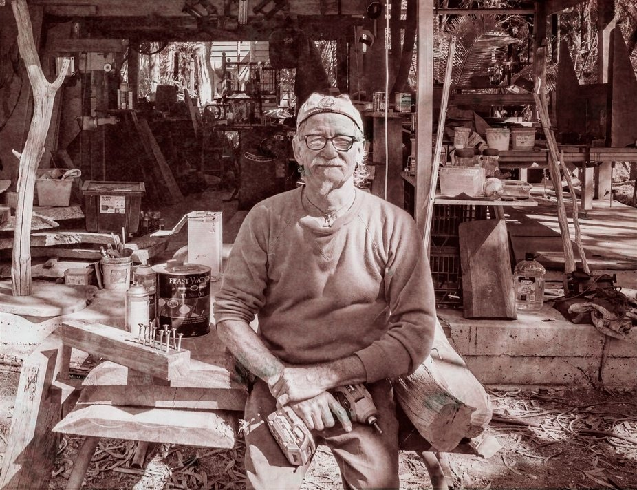 Portrait of a local wood artist