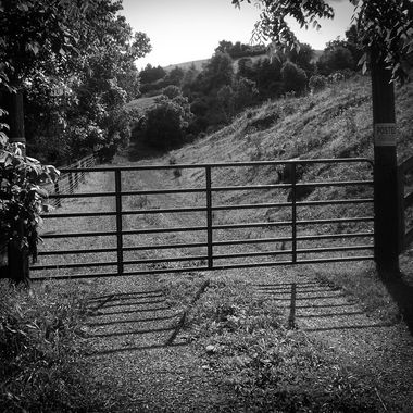 This is the gate we would have to go through to go to my grandparents.