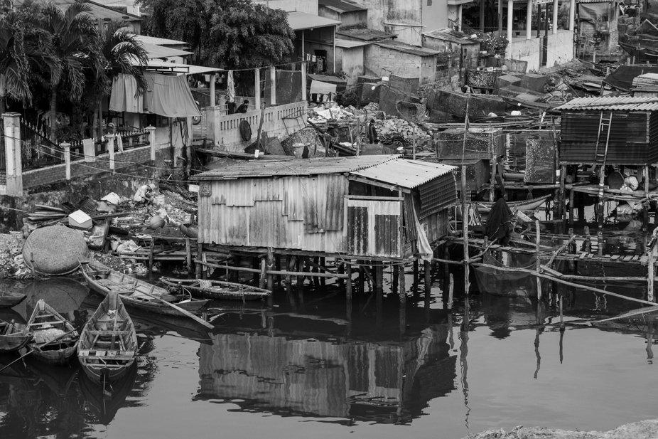 Fisherman's village in Vietnam