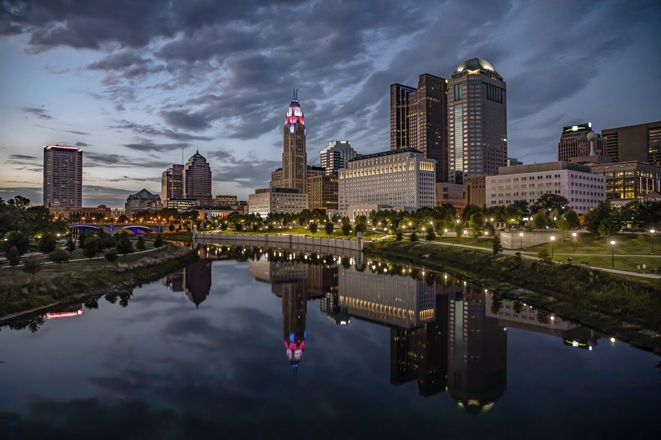 Columbus Skyline in the Blue Hour