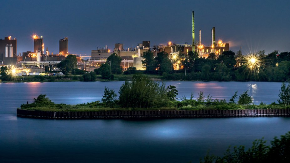 A view of Dupont from Lake Ontario Park in Kingston Ontario, taken during blue hour, looking west...