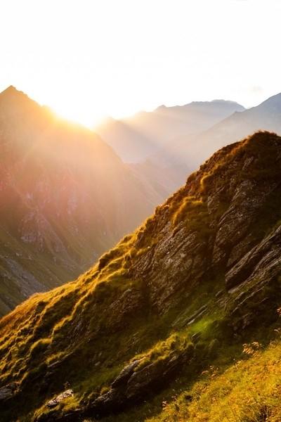 sunrise on mountain ridges
