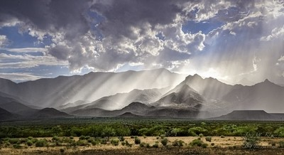 Mount Graham in southeastern Arizona following a monsoonal cloud burst.