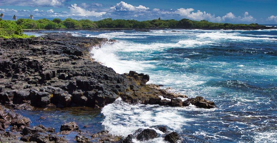 Rocky shore where we fish