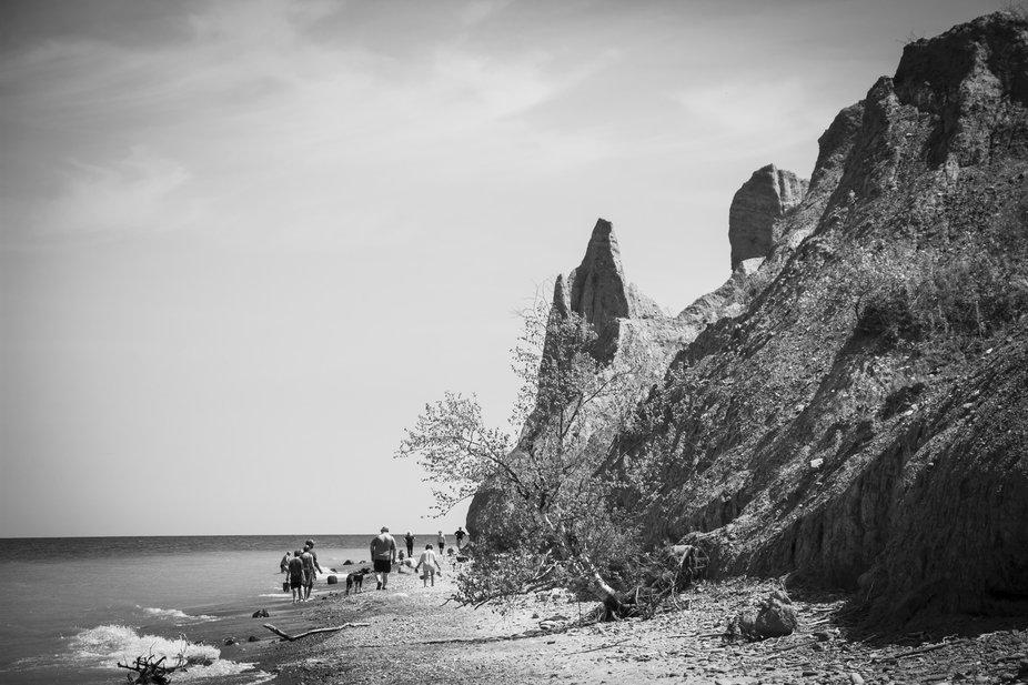 Beach at the Bluffs