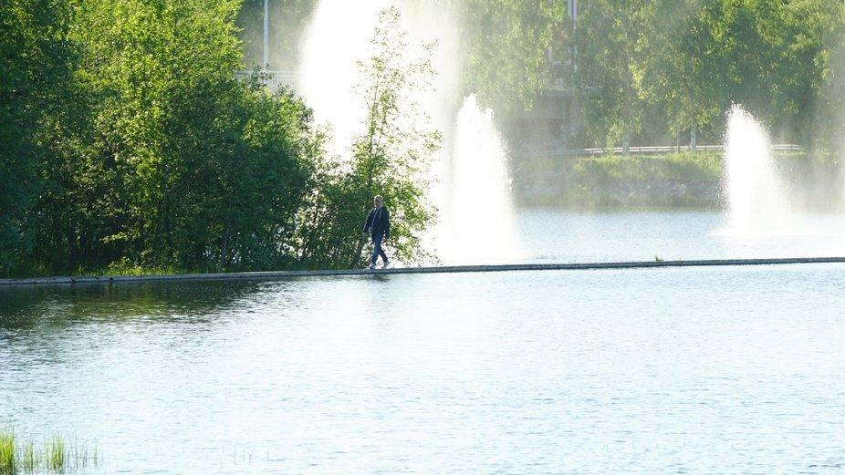 man walking on the water!