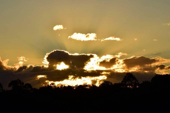 sunset over cloud