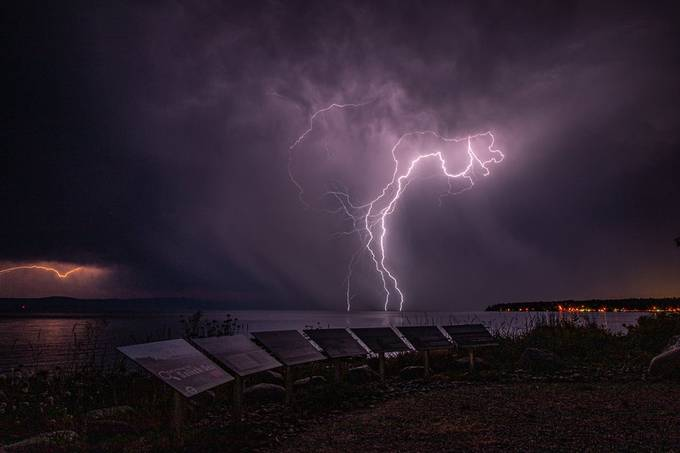 Lightning Over the Bay by markmacey - Monthly Pro Photo Contest Volume14