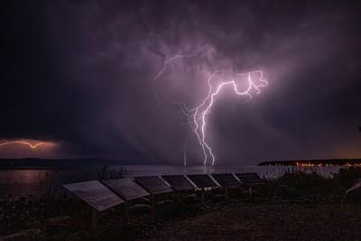 Lightning Over the Bay