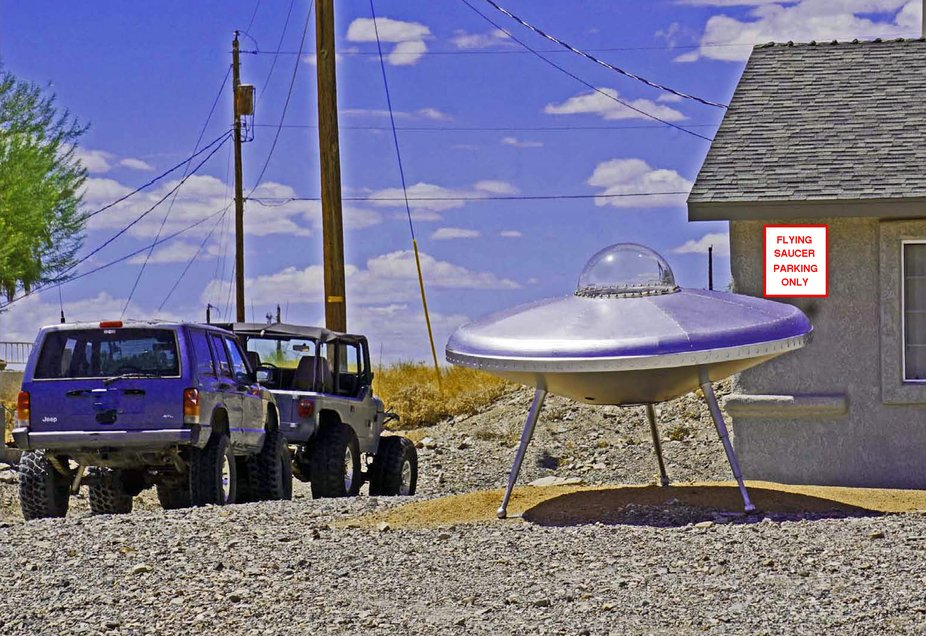 FLYING SAUCER PARKING ONLY