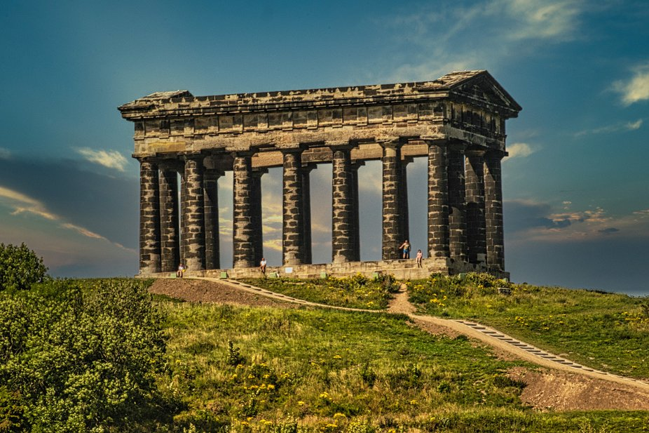 Penshaw monument near Herrington country park in Sunderland UK