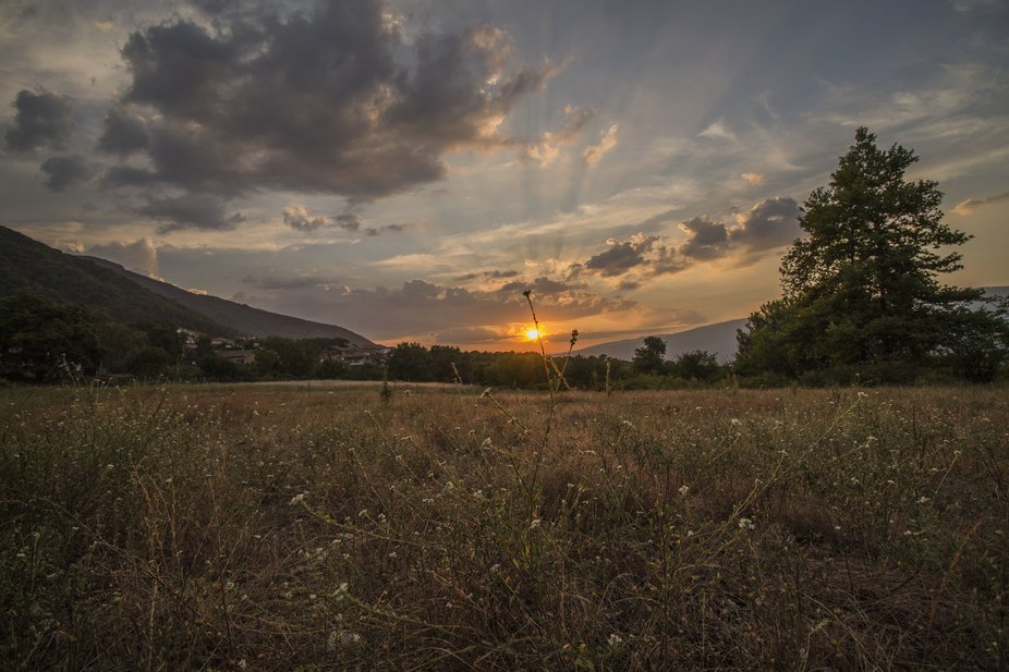 Somewhere, not far from my home village of Kolarovo at the foot of Belasitsa. The sunsets are ver...