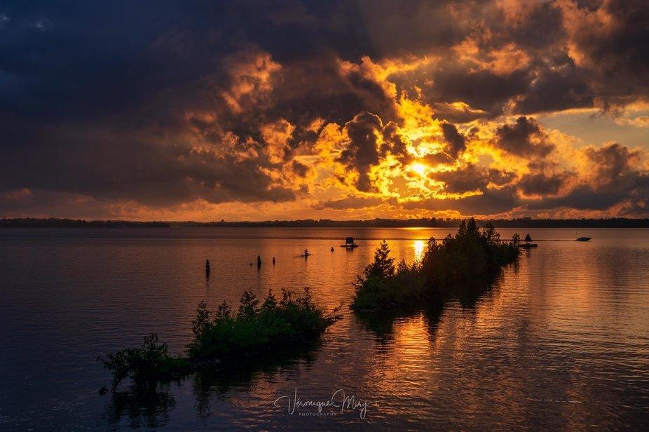 Sunset on Cameron Lake