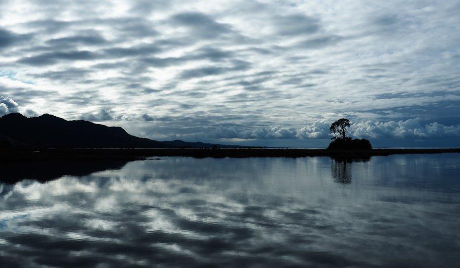 lagoon and sea and stunning cloud