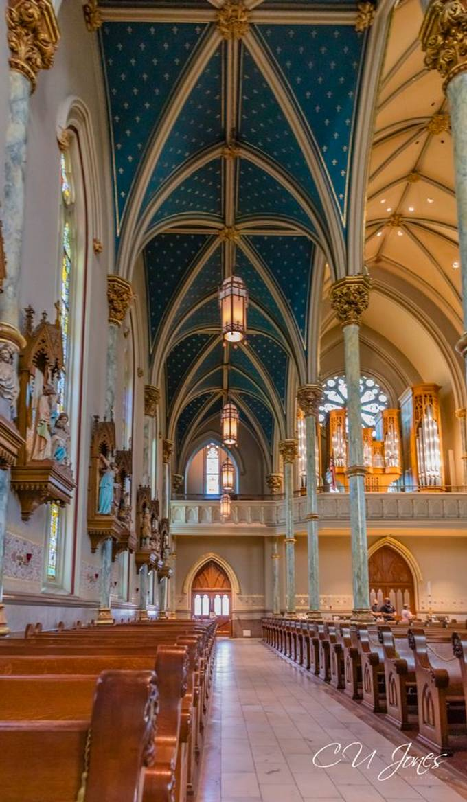 Cathedral Basilica of St. John the Baptist in Savannah, GA.