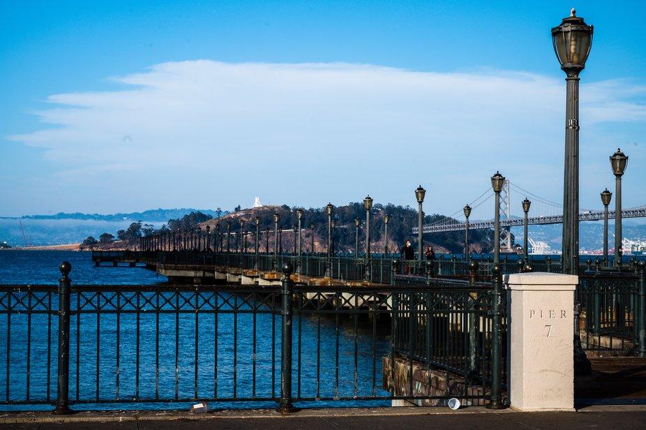 San Francisco waterfront pier.