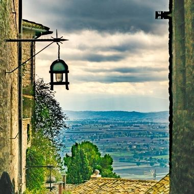The Tuscany Valley in Italy.
