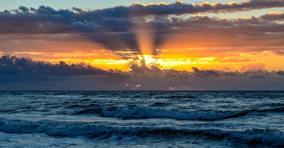 Sunrise in Perdido Key, Florida.