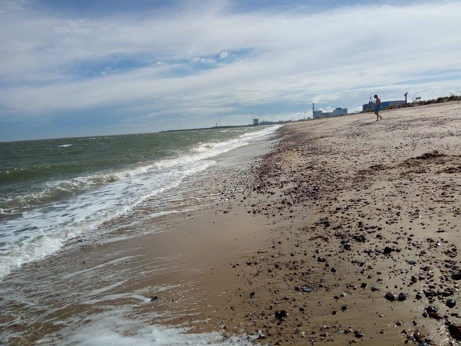 This was taken when the waves went back a little bit after the original Beach Landscape shot.