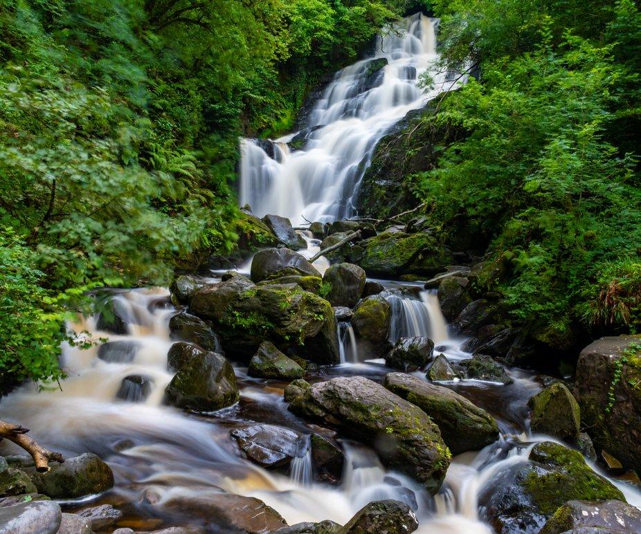 Torc Waterfall at Killarney National Park, Co. Kerry