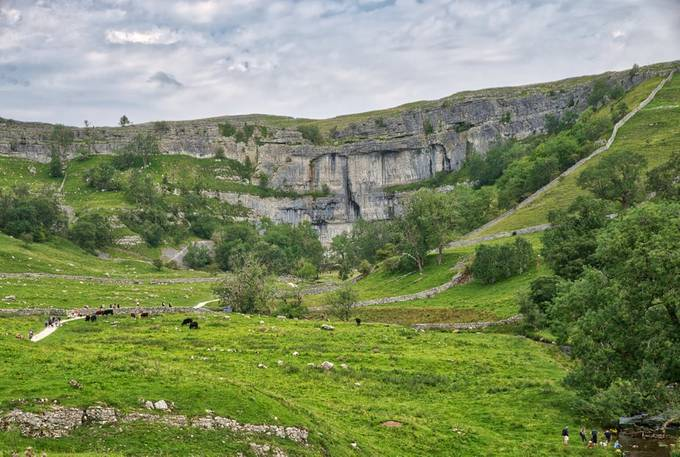 the Malham Cove view in low HDR