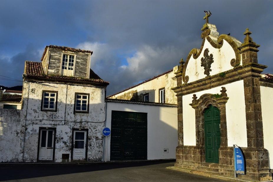 Buildings in Vila Franca do Campo, Azores, Portugal