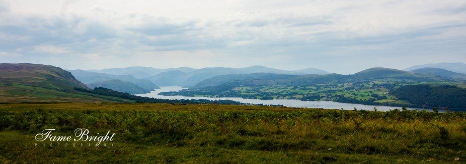 A lofty view of Ullswater from Heughscar Fell near Pooley Bridge