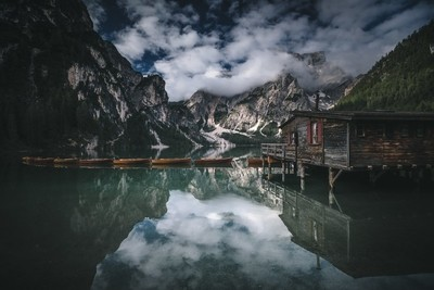 Sunrise at Braies