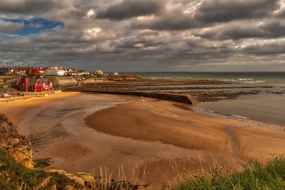 lifeboat station and beach at Cullercoats