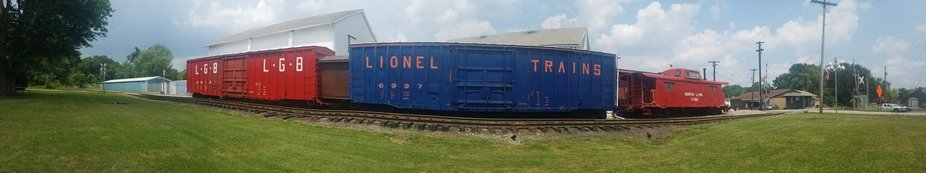 North Lima, Ohio-Trains used to run through here-In town-Love the wide angle shot