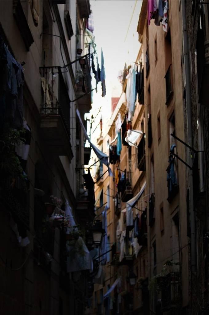 Street in El Born district in Barcelona